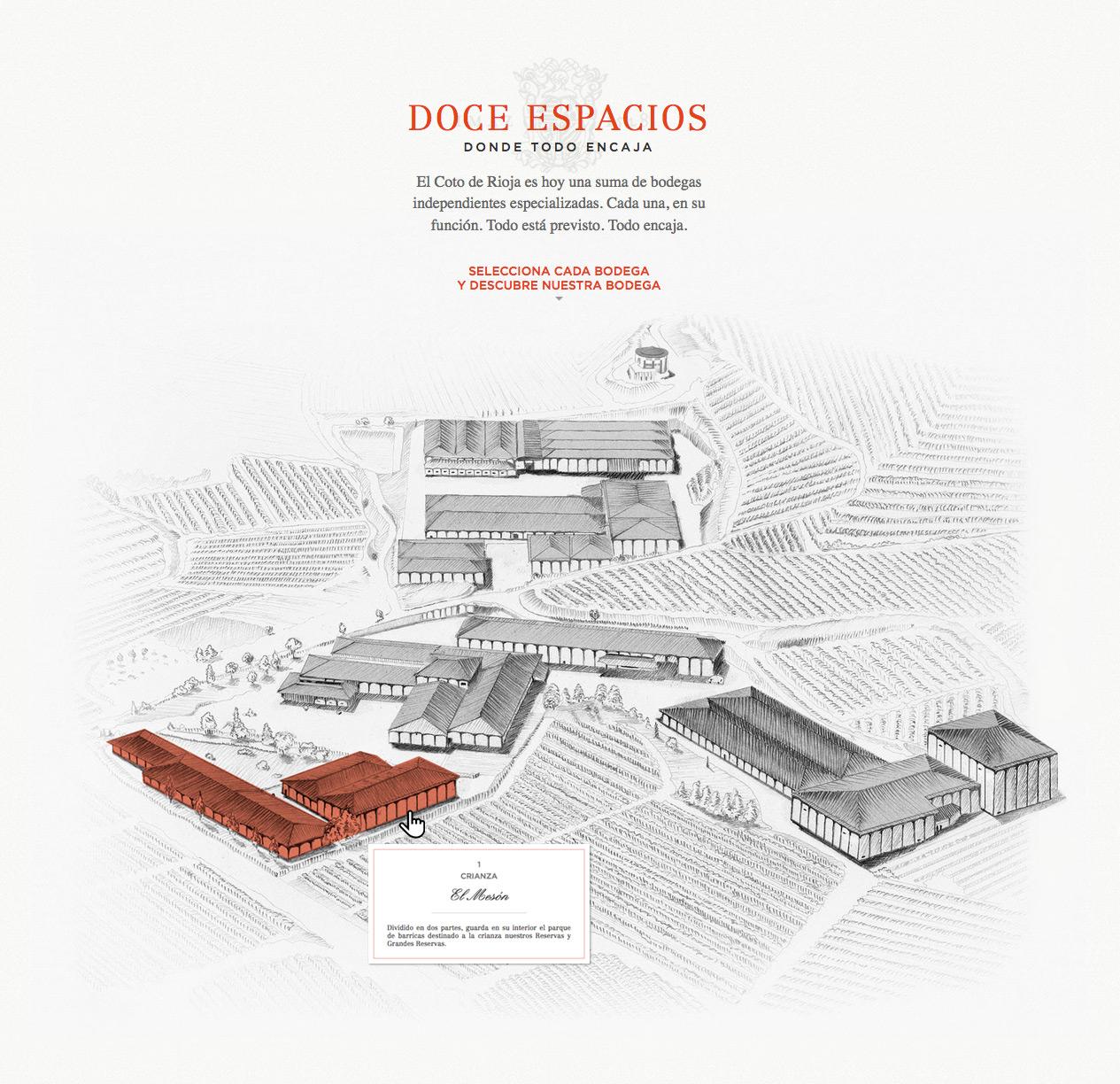 Mapa interactivo de bodegas