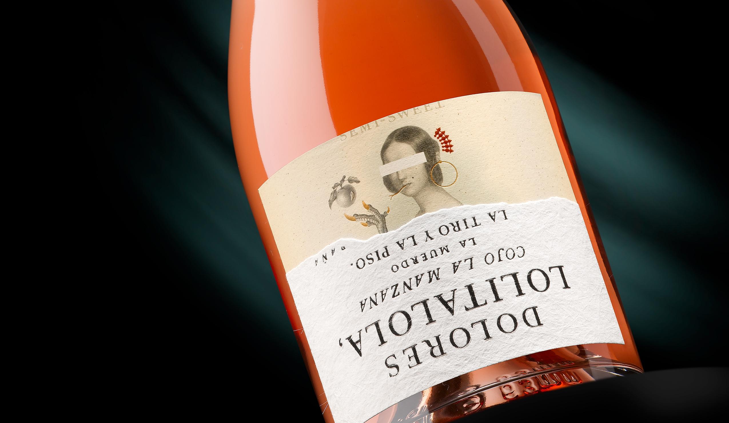 Etiqueta Dolores Lolita Lola de packaging de vino