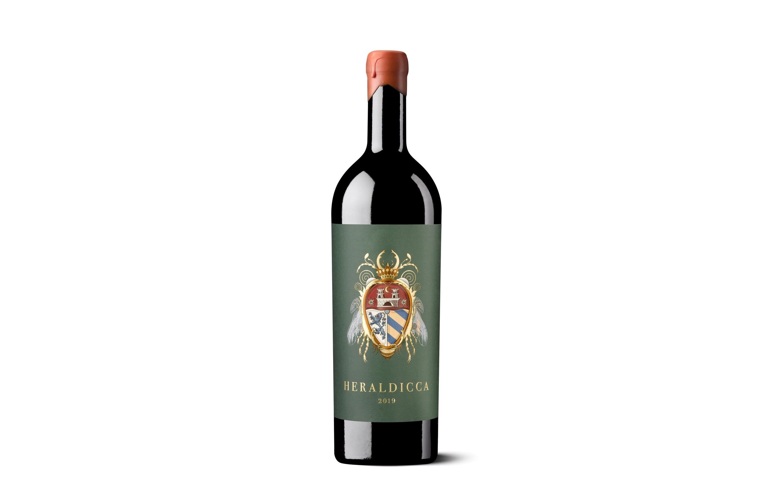 Etiqueta Heraldicca de packaging de vino