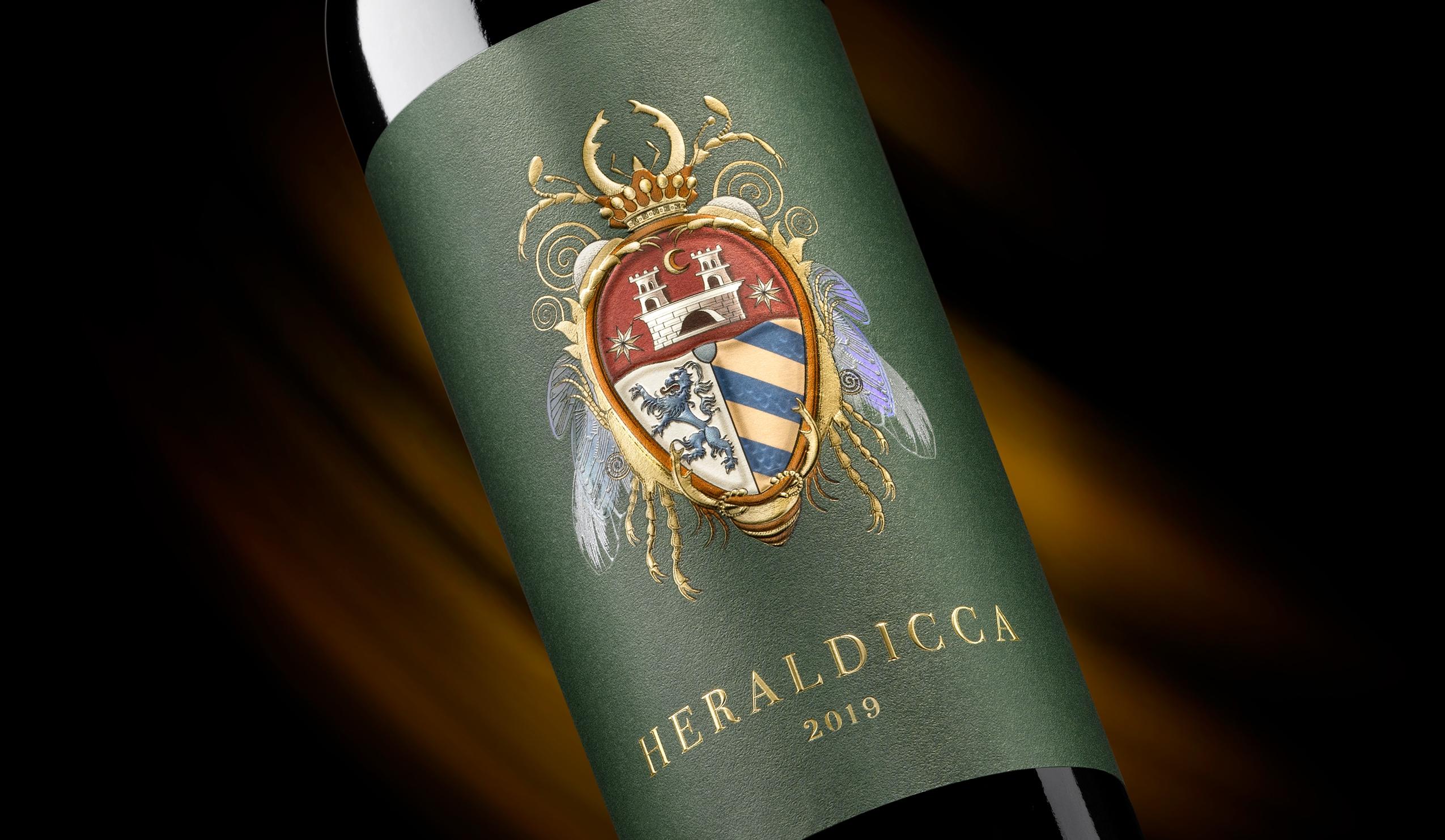 Etiqueta Heraldicca para packaging de vino