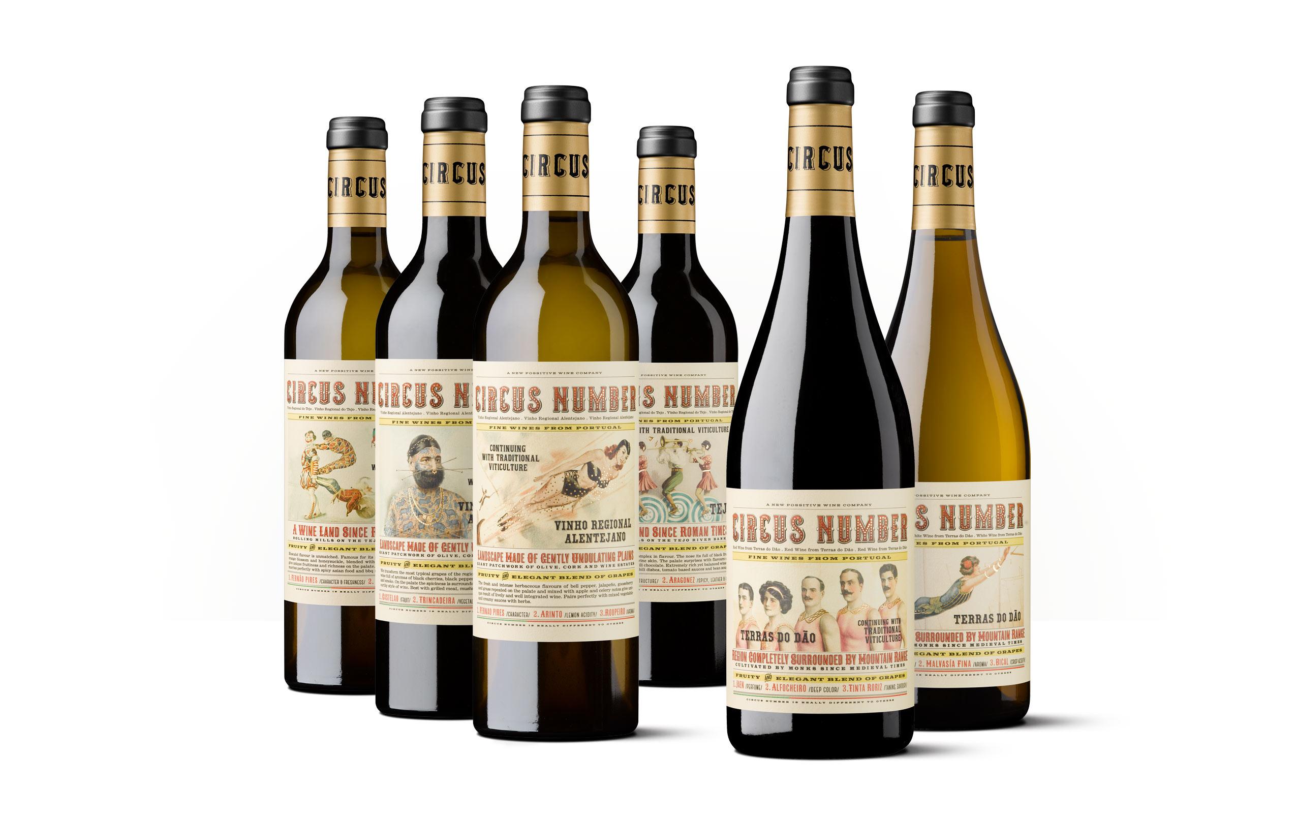 Familia de vinos Circus Number
