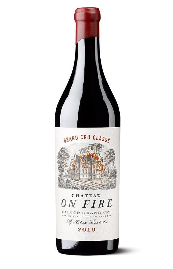 Château on fire.