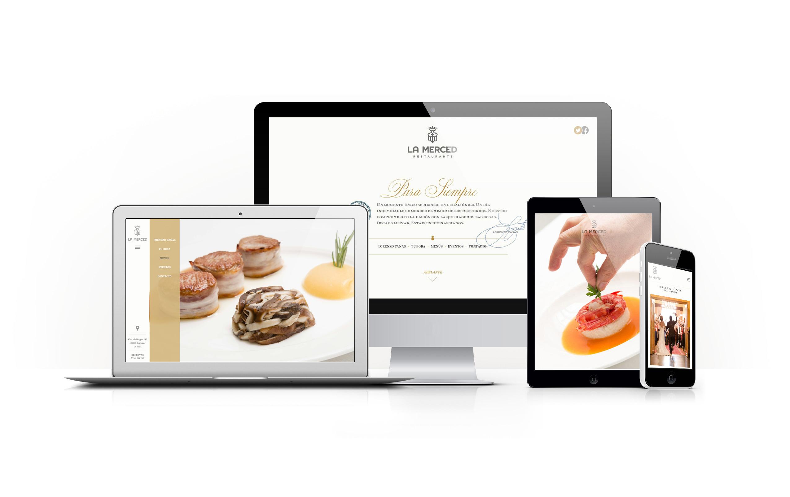 Web Restaurante La Merced