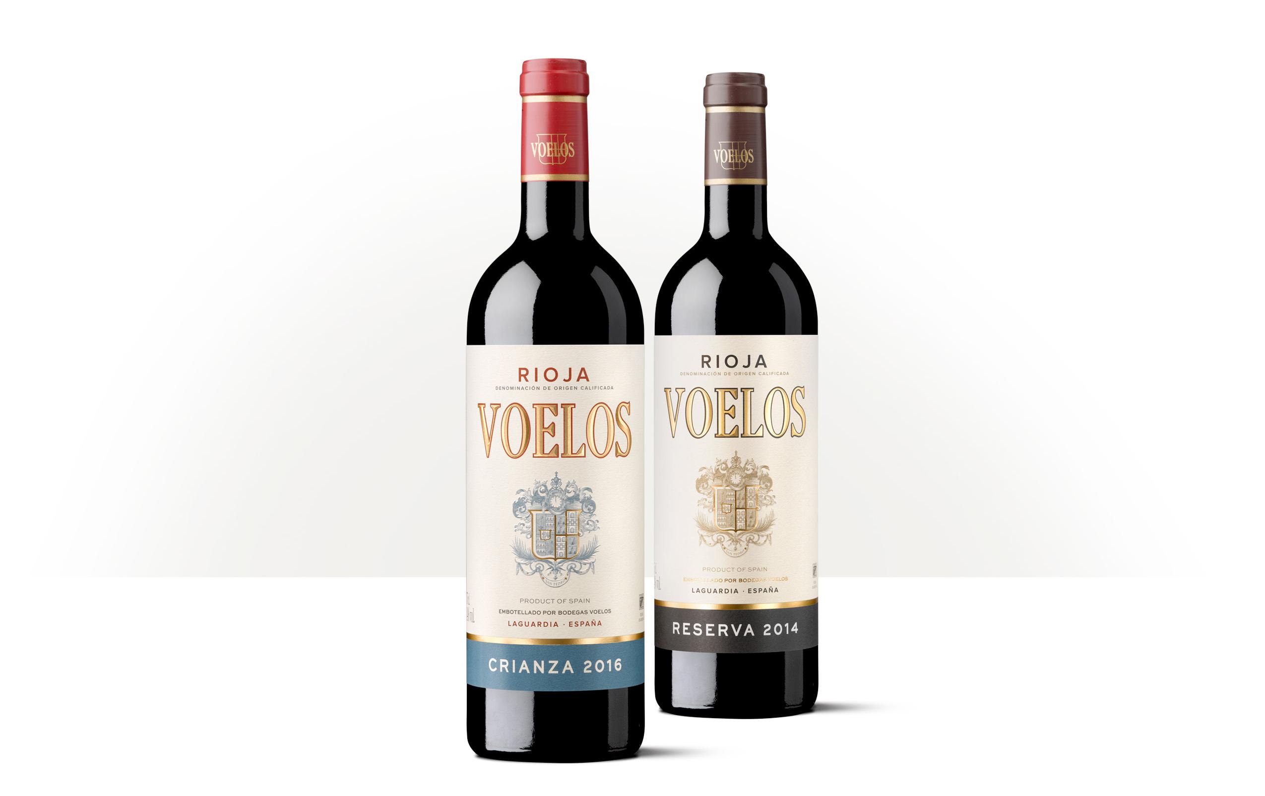 Voelos Crianza y Reserva de Rioja.
